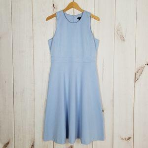 Ann Taylor | Powder Blue Fitted Knit Dress - 8